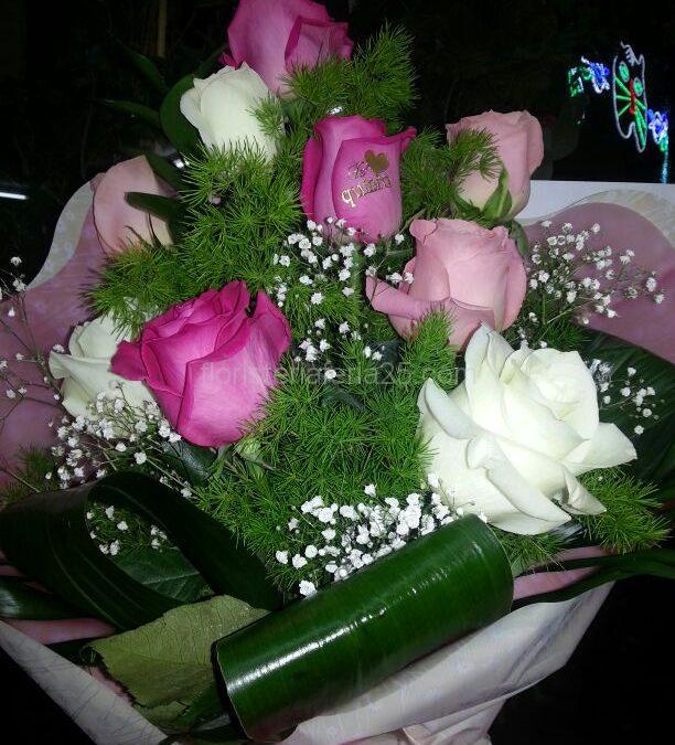 Ramo de 6 rosas tres colores a elegir - Floristería FERIA 25